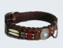 Briaded Leather Dog Collars
