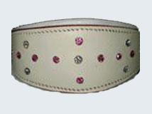 LDC-301 - Swarovski Crystal Leather Dog Collar