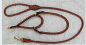 LDC-LDL-205 Choke Leather Dog Collar & Lead Set