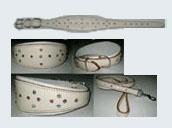 LDC-LDL-301 - Swarovski Crystal Leather Dog Collar