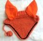 Crochet Cotton Horse Ear Bonnet Nets Fly Fringe Veil Mask
