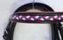LBR-07 Leather Beaded Browband